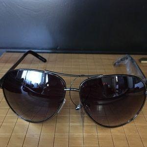 Double Crossbar Aviator Sunglasses